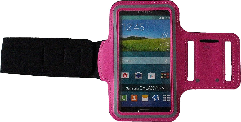 Blank L Schwarz Sport-Armband Schwei/ßfest Schutz-Tasche f/ür LG G8s ThinQ Fitness Handy-h/ülle Arm-Tasche mit Kopfh/öreranschluss Laufen