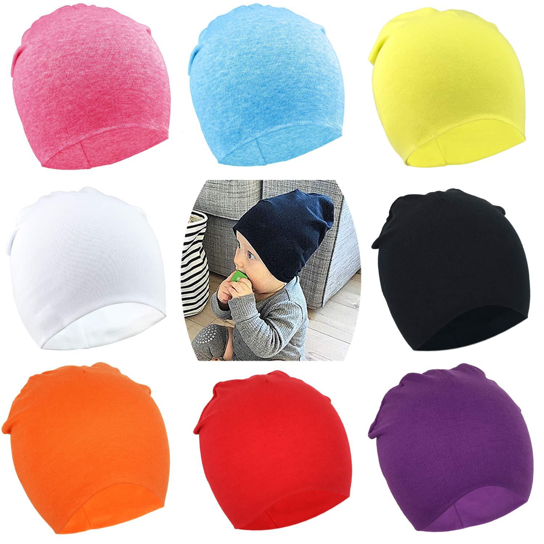 DRESHOW BQUBO Unisex Baby Beanie Hat Infant Baby Soft Cute Knit Cap Nursery Beanie