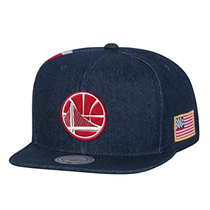 differently 6d026 c919c Image Unavailable. Image not available for. Color  Mitchell   Ness Golden  State Warriors USA Stars   Stripes Denim Snapback