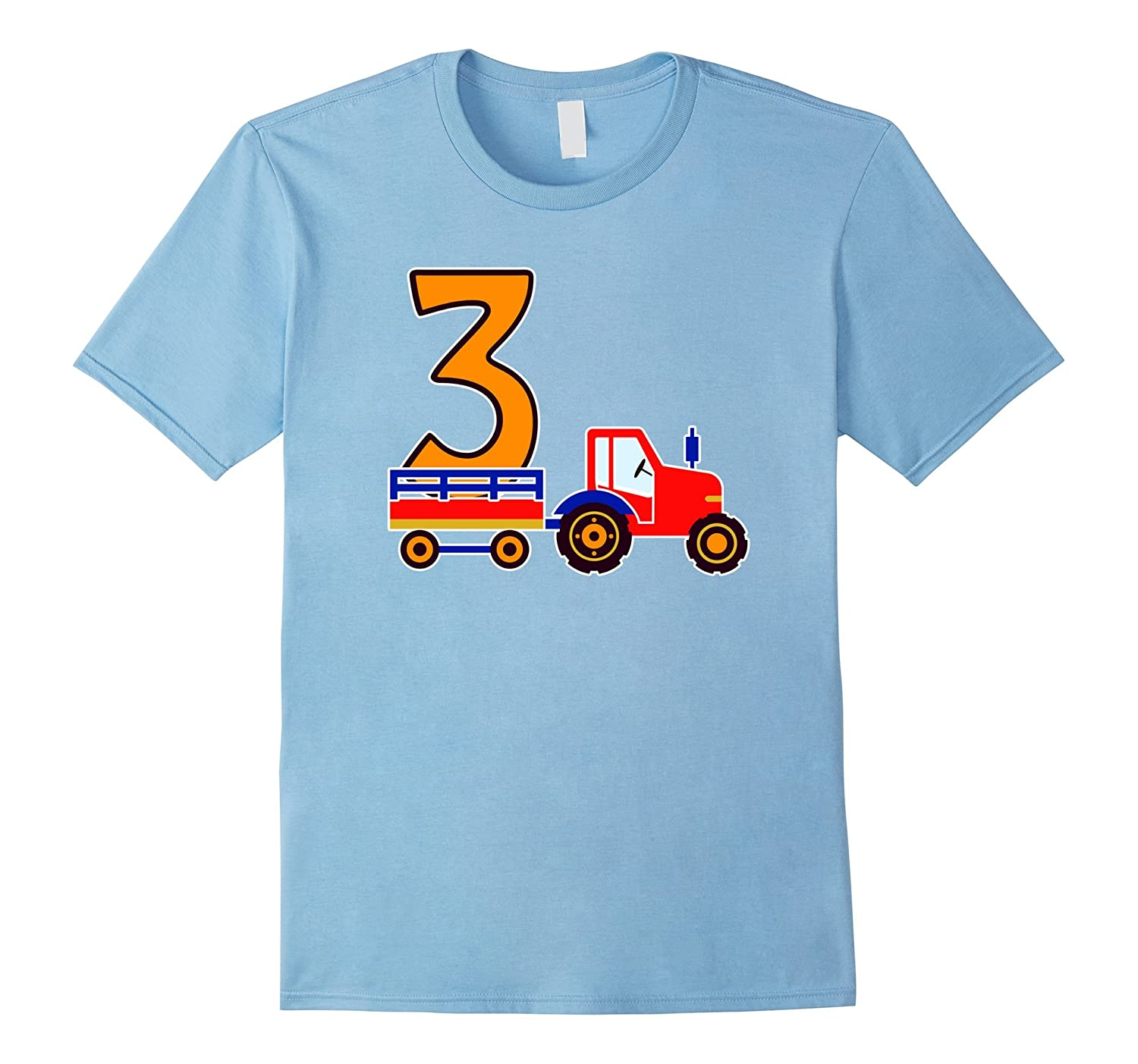 3rd Birthday Gift Construction Party 3 Year Old Boy Kids Tee-TH
