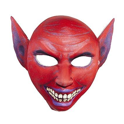 WIDMANN vd-wdm05706 Máscara de Tela medio Viso Diablo, rojo, talla única