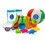 Beach Sand Toys Set 13 Pieces Set for Children With Beach Toys Bag for Baby or Toddler Sand Playset Sandcastle Building Tools for Kids by Kidsper