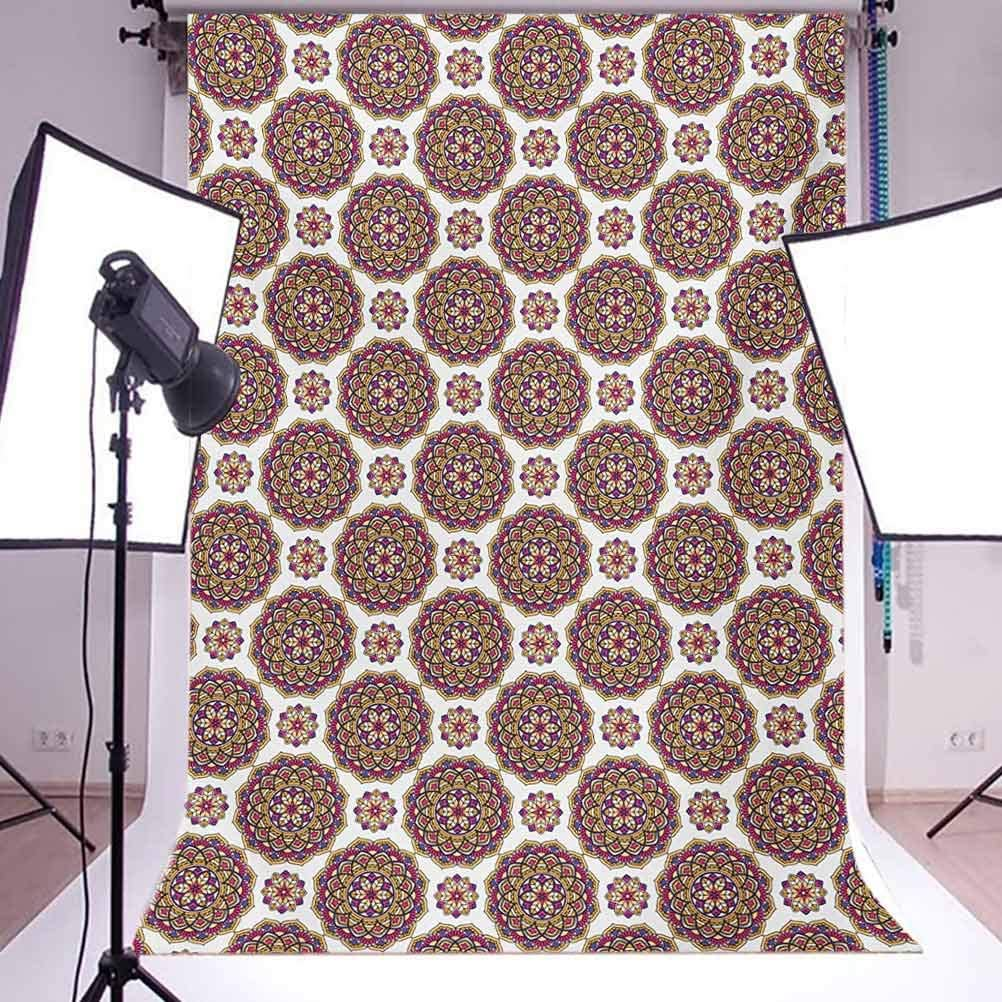 Primitive 8x10 FT Photo Backdrops,Haida Motifs in Vertical Borders with Abstract Tribal Animal Figures Background for Kid Baby Boy Girl Artistic Portrait Photo Shoot Studio Props Video Drape Vinyl