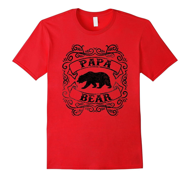 Shirt design canada -  Mens Great Design Vintage Style Black Papa Bear Dad Gift T Shirt
