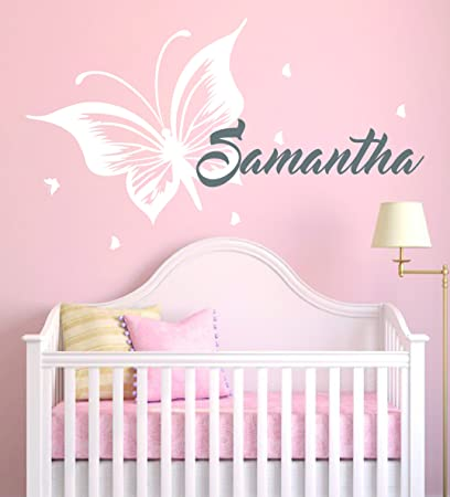 Custom Name Butterflies Animal Series   Baby Girl   Wall Decal Nursery For  Home Bedroom Children