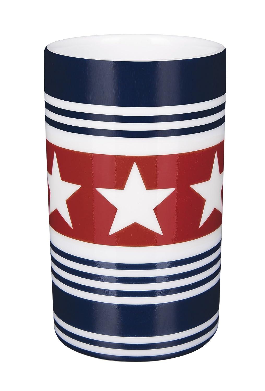 Spirella 10.17604 Zahnbecher Tube Wainscott Navy//rot