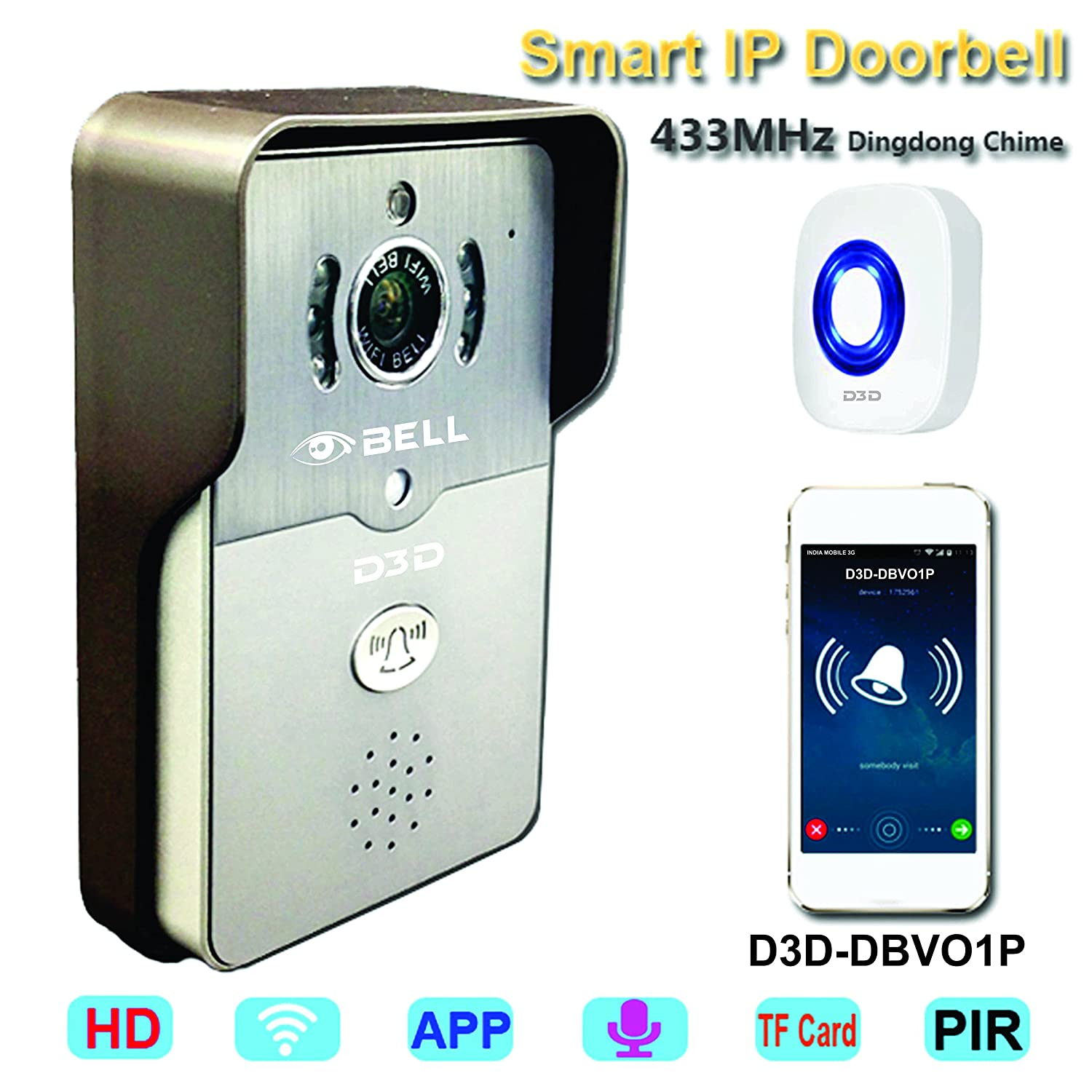 Marvelous Buy WiFi Smart Wireless Video Doorbell With Door Lock/Unlock Function,  Mobile Application, Real Infra Red Night Vision, P2P One Key WiFi  Connection ...