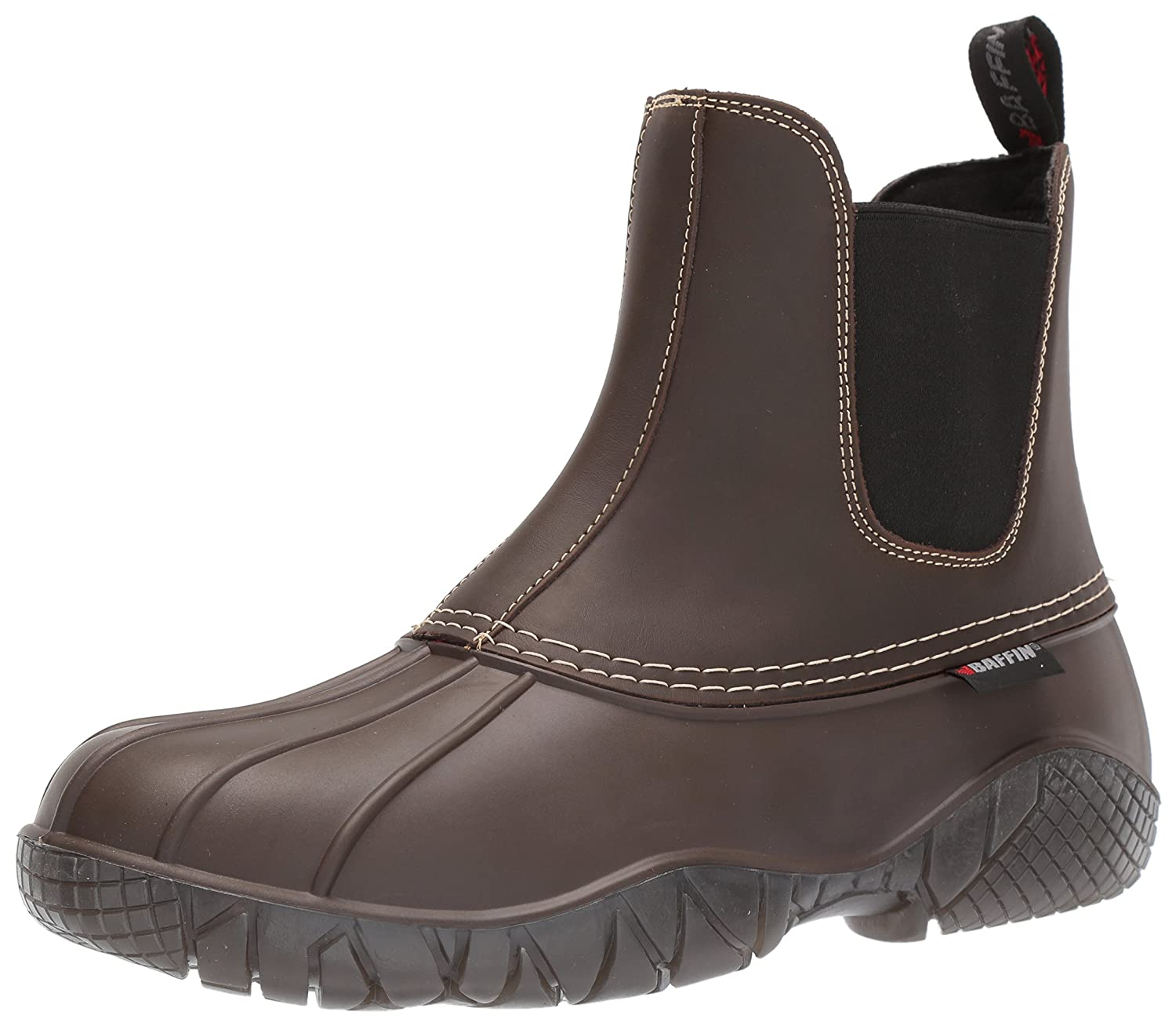 Baffin Men's Huron Rain Boots, Brown, 8 M US Baffin Mens LAKEM001