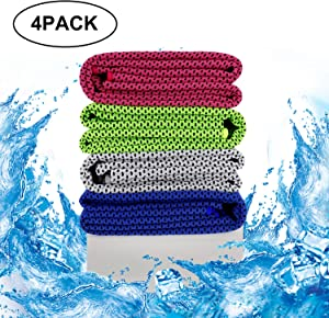 Tagefa Cooling Towel Soft Breathable, Ultra-fine Fiber, Super Absorbent, Fast Evaporation and Drying, Quick Cold Towel, for Bowling, Yoga, Travel, Camping, Golf, Football, Hiking, Outdoor Work