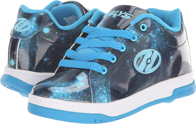 Heelys Boys Split Sneaker Black//White 4 Medium US Big Kid