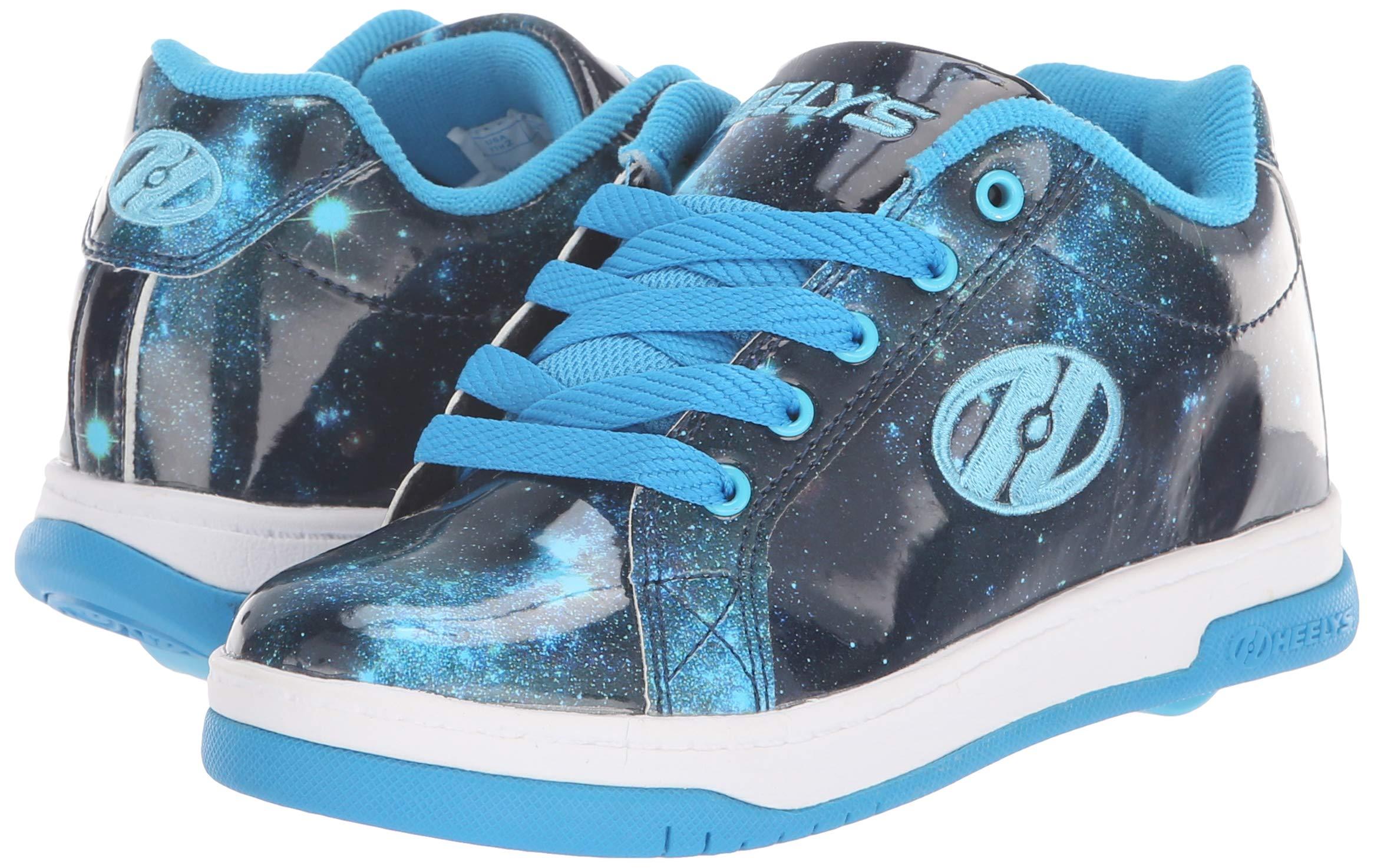 Heelys Girls' Split Tennis Shoe Blue/Galaxy 2 M US Big Kid by Heelys (Image #6)