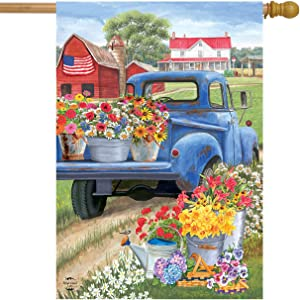 "Briarwood Lane Day On The Farm Spring House Flag Pick-up Truck Floral 28"" x 40"""