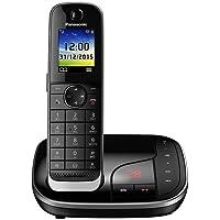 PANASONIC KX-TGJ320GB DECT Schnurlostelefon mit Anrufbeantworter und Anruferansage, schwarz