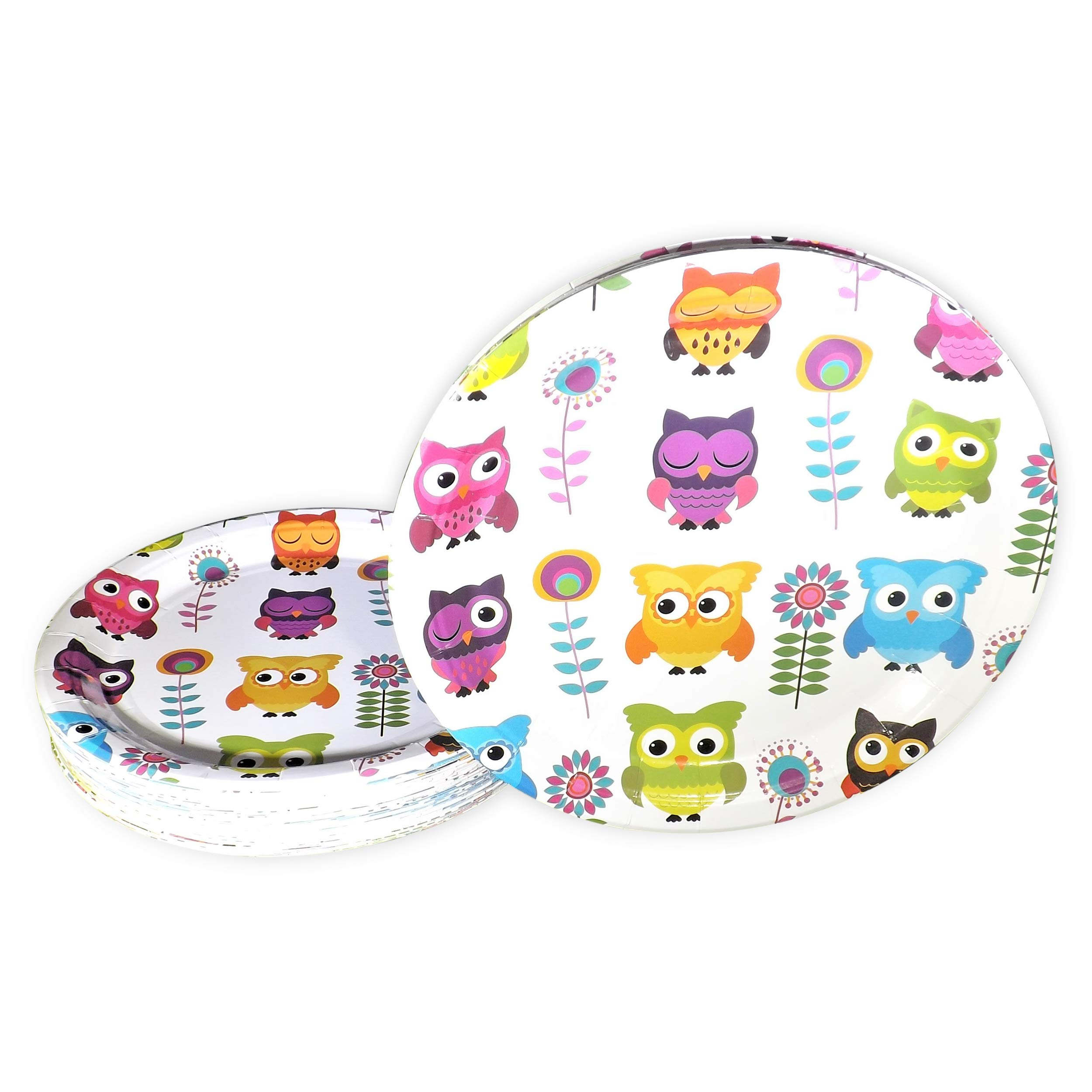 """9"""" Round Disposable Paper Plates Bulk, 50 Pack Eco-Friendly Tableware by Fantastic Flag 
