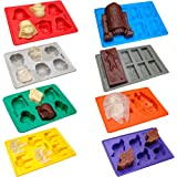 Set of 8 Star Wars Theme Silicone Tray Ice Cube And Candy Mold by Vibrant Kitchen for Baking Candy And Soap Making & Gift E-book