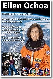 574691d06ec Ellen Ochoa - First Hispanic Woman in Space - NEW American NASA Astronaut  Space Poster