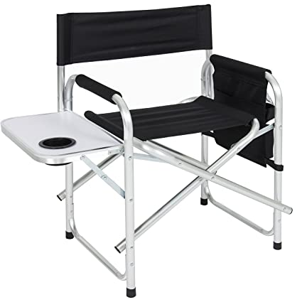 Awe Inspiring Best Choice Products Aluminum Folding Picnic Camping Chair W Table Tray Cup Holder Director Seat Machost Co Dining Chair Design Ideas Machostcouk