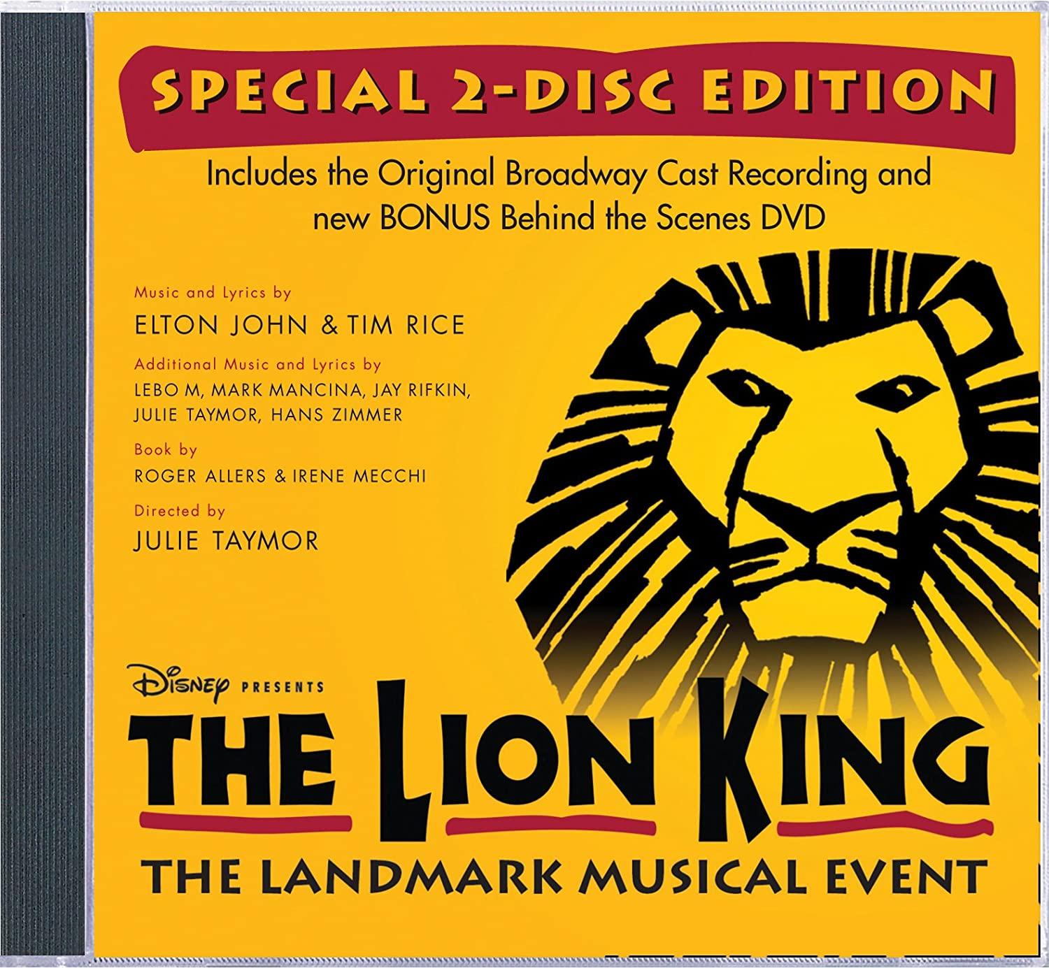 Soundtrack The Lion King Original Broadway Cast Recording Special 2 Disc Edition Amazon Com Music