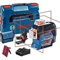 Bosch Professional 12V System bouwlaser GLL 3-80 C (1x accu 12V, rode laser, binnenafwerking, met appfunctie, houder…