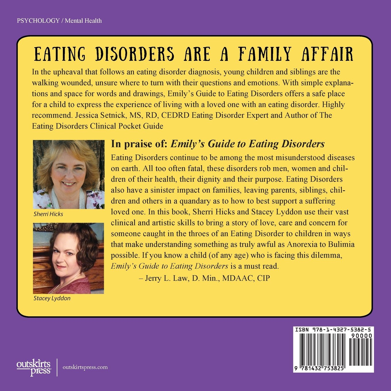 Emily's Guide to Eating Disorders: A Workbook for Children Ages 5 ...