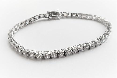 Amazon.com: VS-1963 18 CTTW Swarovski Elements Tennis Bracelet ...