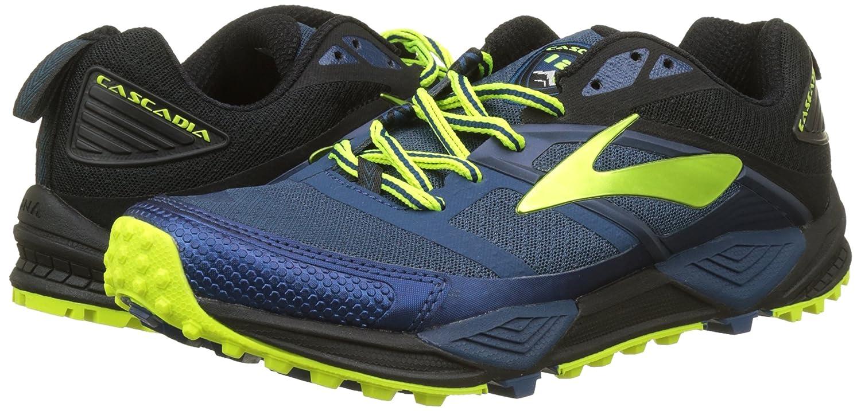 Brooks Cascadia 12, Scarpe da Trail Running Uomo, Multicolore (Blue/Black/Nightlife 1D419), 44 EU