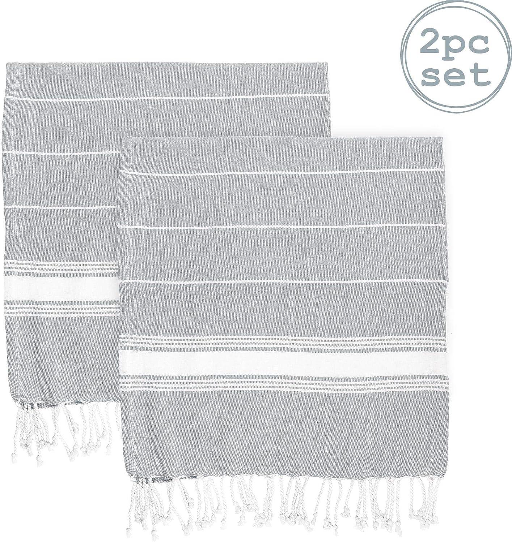 Nicola Spring Toalla de baño - Microfibra de 100 % algodón Turco - Gris - Pack de 2: Amazon.es: Hogar