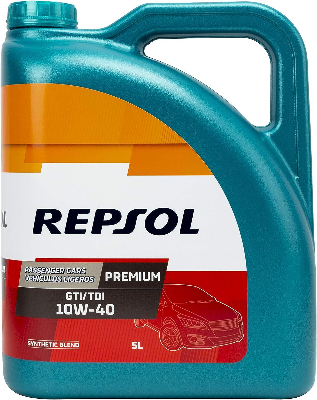REPSOL ACEITE DE MOTOR PREMIUM GTI/TDI 10W40 5 Litros, Multicolor, 5 L: Amazon.es: Coche y moto