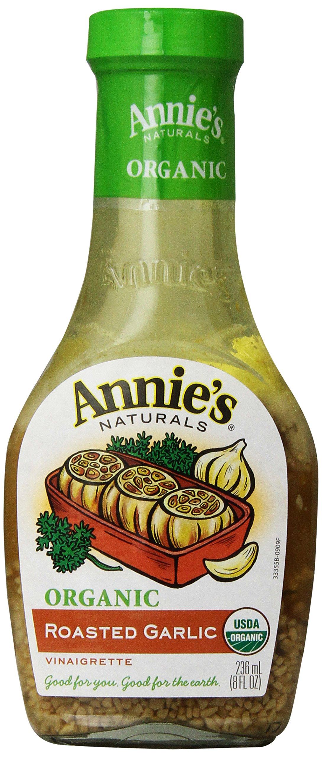 Annie's Organic Gluten Free Roasted Garlic Vinaigrette Dressing 8 fl oz Bottle