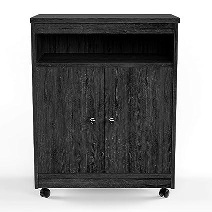 Amazon.com: Porch & Den - Carrito para microondas (madera de ...