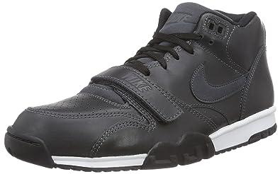 new arrival 79377 23bda Nike Mens Air Trainer 1 Mid BlackBlack-White 317554-005 Shoe 8