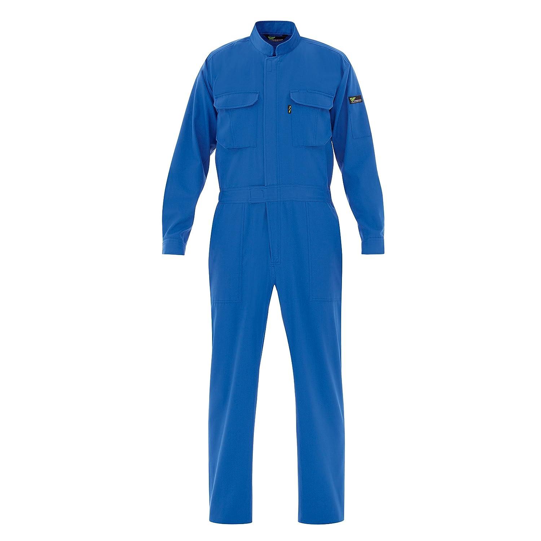 ミドリ安全 【もっと、動ける服を。VERDEXCEL FLEX】 メンズ 綿100% 帯電防止ツナギ服 VE160 B00LAVO2MU 3L|ブルー ブルー 3L
