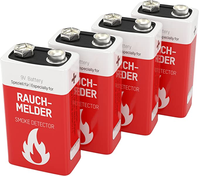 4 Ansmann Lithium Longlife Rauchmelder 9v Block Elektronik
