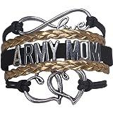 Army Mom Jewelry, Army Mom Bracelet, Proud Army Mom Charm Bracelet - Makes Perfect Mom Gifts