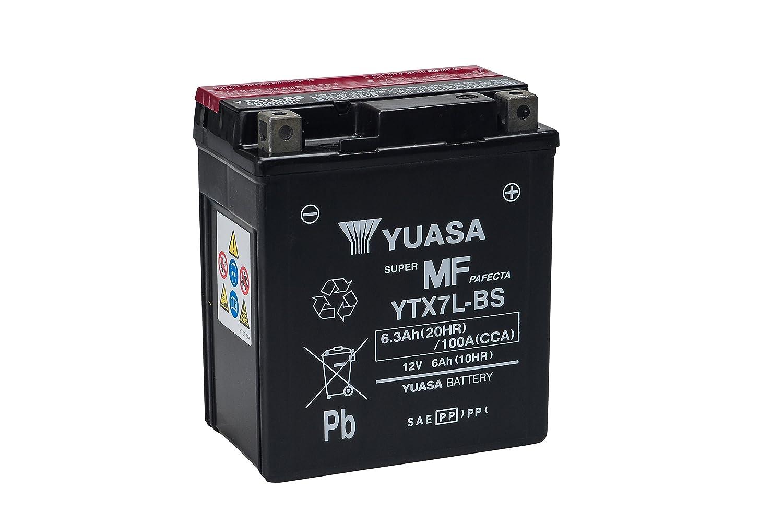 YUASA BATERIA YTX7L-BS AGM abierto - con paquete de ácido: Amazon.es: Coche y moto