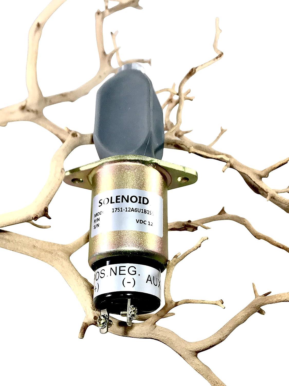 31-0202,1751-12A6U1B1S5 1 Year Warranty. SA-4259-12 THUNDER PARTS Fuel Shut Off Solenoid for Kubota 3A 12 Volts