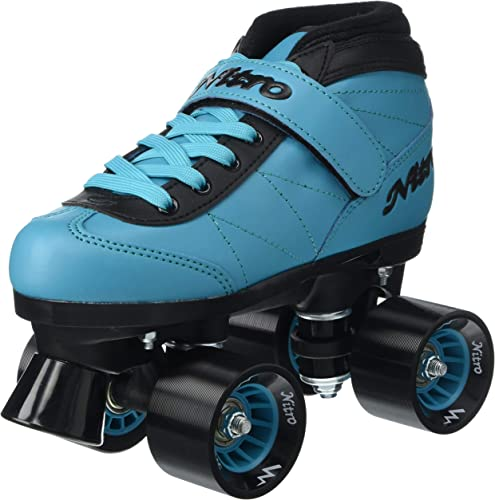 Epic Skates 2016 Epic Nitro Turbo 1 Indoor Outdoor Quad Speed Roller Skates, Blue