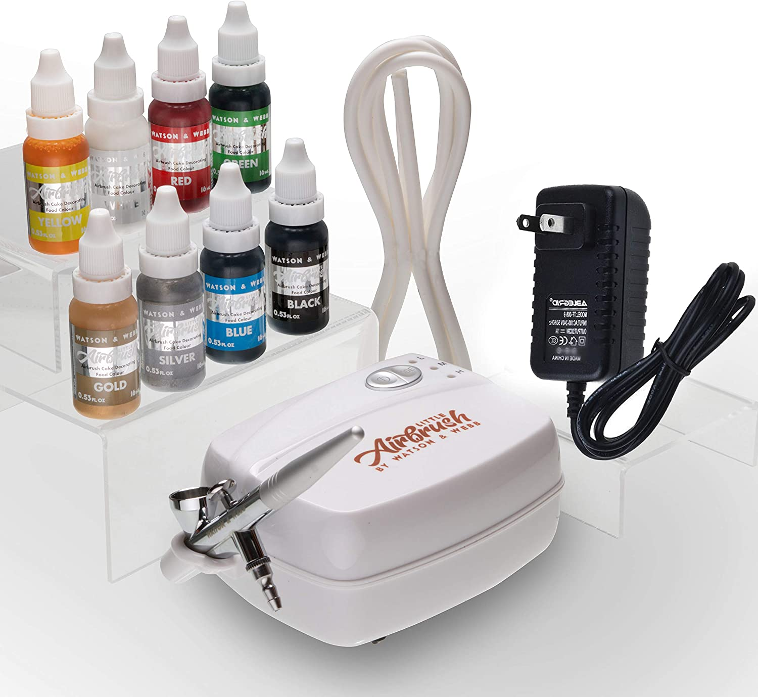 Airbrush Cake Decorating Kit Watson and Webb Little Airbrush LA1 Including 8 Colours