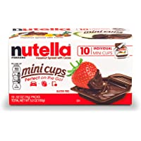 Nutella Chocolate Hazelnut Spread, Single Serve Mini Cups, Perfect Christmas Stocking Stuffer and Topping for Holiday…