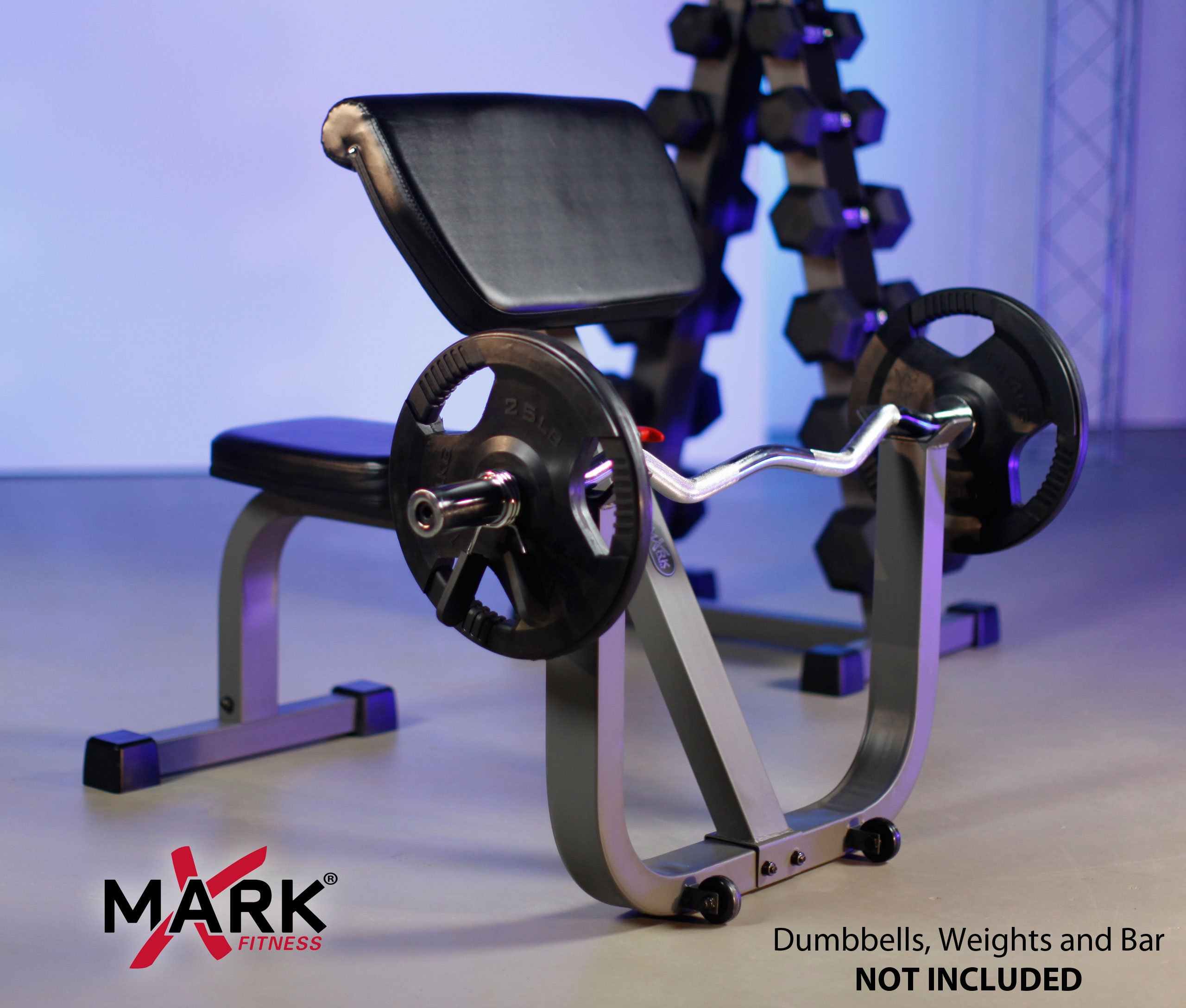 XMark Seated Preacher Curl Weight Bench XM-4436 by XMark Fitness (Image #3)