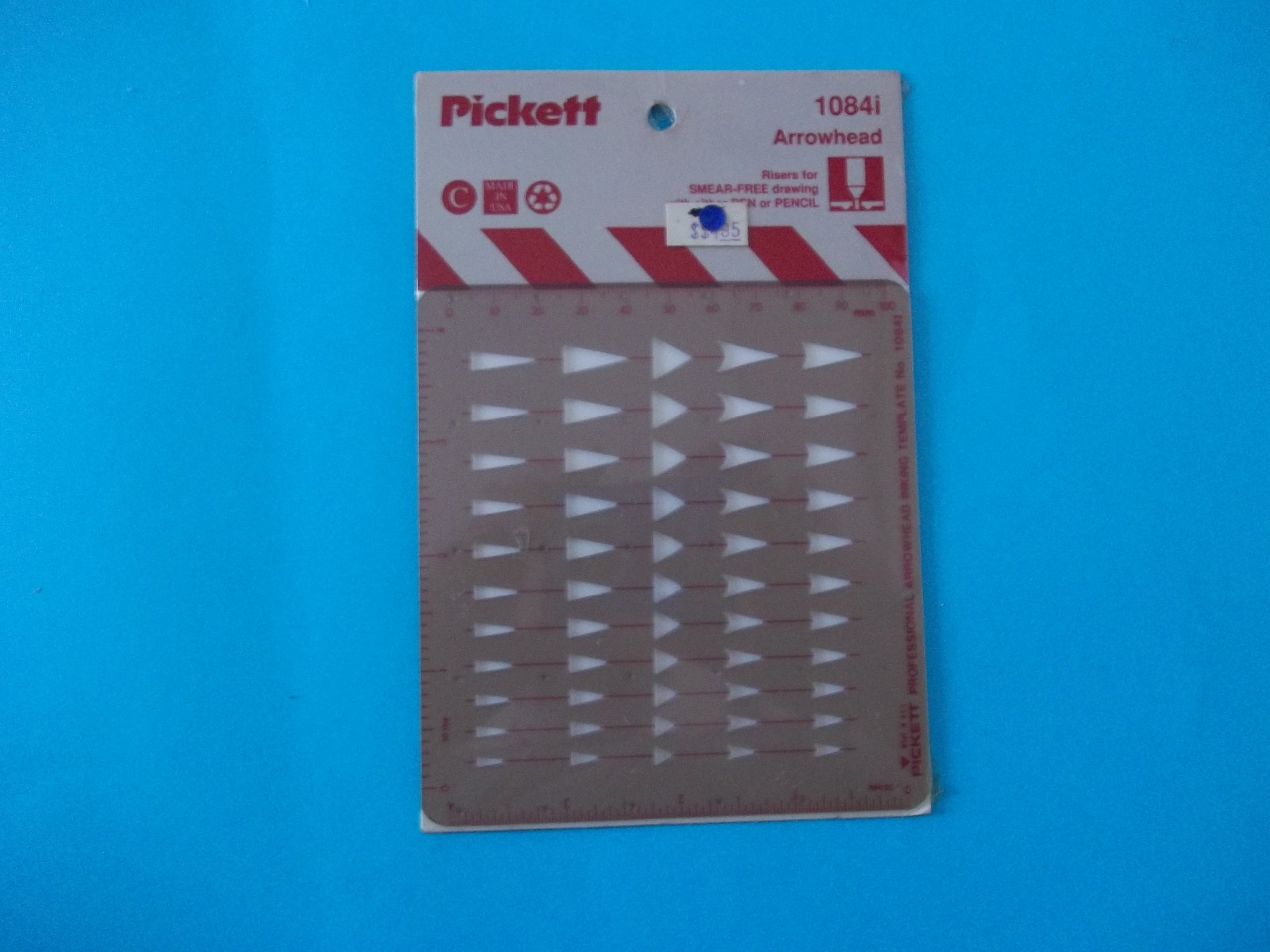 Pickett 1084I Professional Inking Template Built-In Ink Risers Arrowhead Made in USA