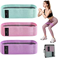 Sososoyug Hip Resistance Bands Squat Practice With Hip Loop Elastic Band Tension Band And Yoga Wide Workout Fitness…