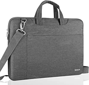 """Ferkurn 15.6 Inch Laptop Sleeve Waterproof with Handle Protective Shoulder Bag Compatible with 2019 MacBook Pro 15.4"""" A2141, 15-15.6 inch MacBook Pro Retina 2012-2015,Surface Book 2 15"""",Notebook,Gray"""