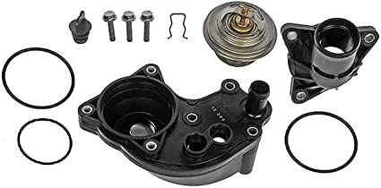 APDTY 013971 Thermostat Kit w// Upper /& Lower Water Outlet Housing /& All O-ring Seal Gaskets For 2002-2010 Ford Explorer 2002-2010 Mercury Mountaineer 4.0L Complete Fix For The Common Leaking Thermostat Housing