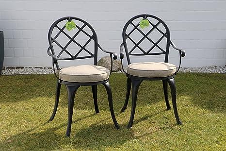 Amazon Sedie Da Giardino In Alluminio.Made For Us 2 Sedie Da Giardino In Alluminio Pressofuso Resistente Alle Condizioni Atmosferiche Con Vernice A Fuoco Akzonobel Resistente Ai Raggi