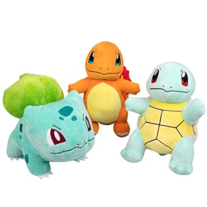 Amazon.com: Pokémon - Juego de 3 peluches para arrancar ...