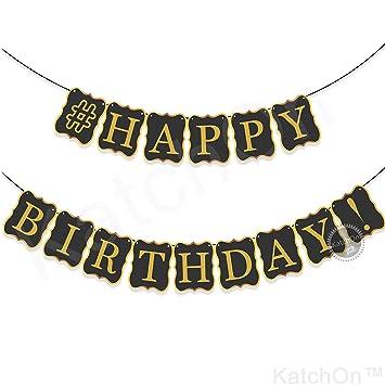 amazon black happy birthday banner decorations classy birthday