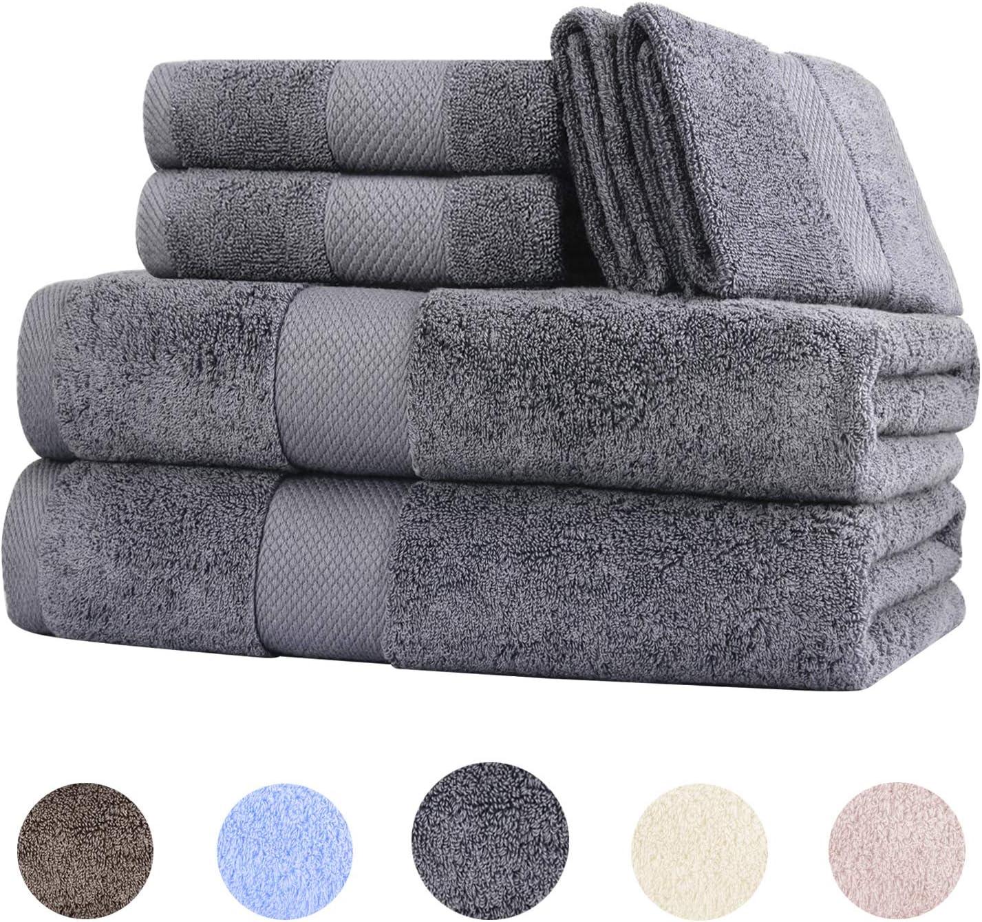 Wonwo 6 Piece Cotton Towel Set