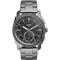 Fossil - Reloj inteligente híbrido de acero inoxidable para hombre con seguimiento de actividad y notificaciones de smartphone