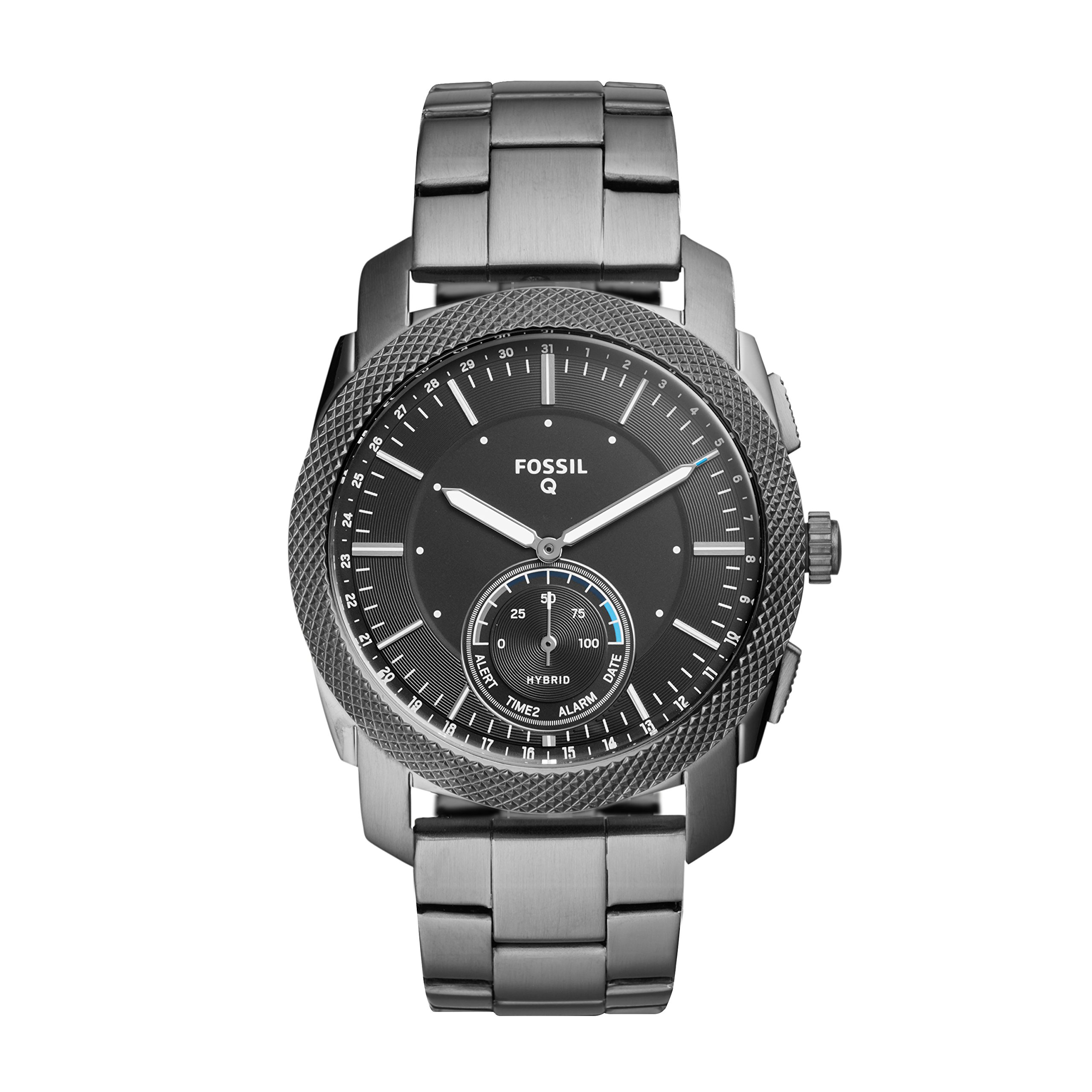 Fossil Q Men's Machine Stainless Steel Hybrid Smartwatch, Color: Grey (Model: FTW1166) by Fossil